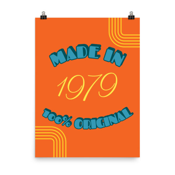"""Poster """"Made in 1979"""""""